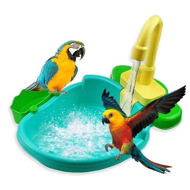 "Automatic Parrot Bathtub Swimming Pool ""Big Boy"" Parrot Supplies - Pets Alpha  3"
