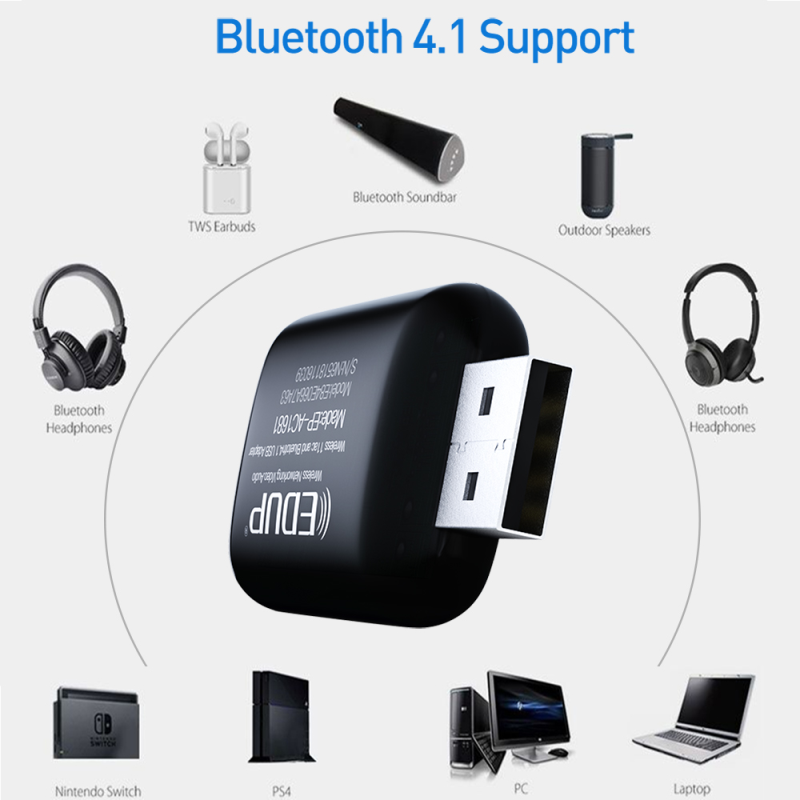 EDUP 1200Mbps USB WiFi Adapter Chipset RTL8822BU Bluetooth 4.1 Dual Band 2.4Ghz/5.8Ghz  USB WiFi Dongle For Desktop Laptop 3