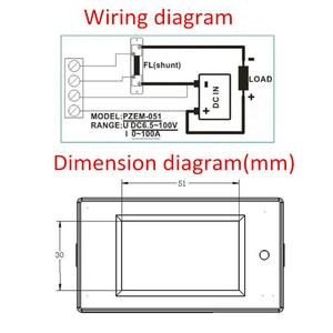 Image 4 - 100A 10000W DC דיגיטלי משולב מד צריכת חשמל אנרגיה צג כוח אנרגיה מד מתח מודול וולט Meterr מד זרם עם 50A המחלף