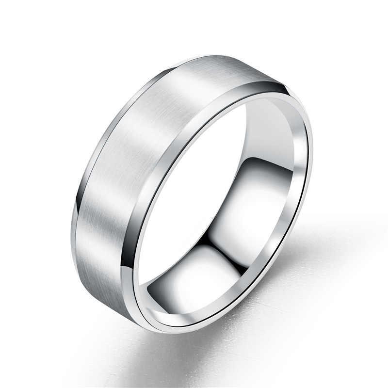Новинка, кольца из титановой стали для женщин, пара, индивидуальные мужские черные кольца, ювелирные изделия для влюбленных, обручальное кольцо, Женское кольцо, подарки
