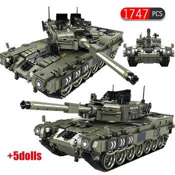 1747 Pcs Leopard 2 Main Battle Tank Model Building Blocks Military WW2 Army Soldier Bicks educational Toys For Boys children