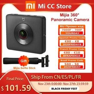Image 1 - In Stock Xiaomi Mijia 360° Panoramic Camera 3.5K Video Recording Sphere Camera IP67 Rating WiFi Bluetooth Mini Sport Camcorder