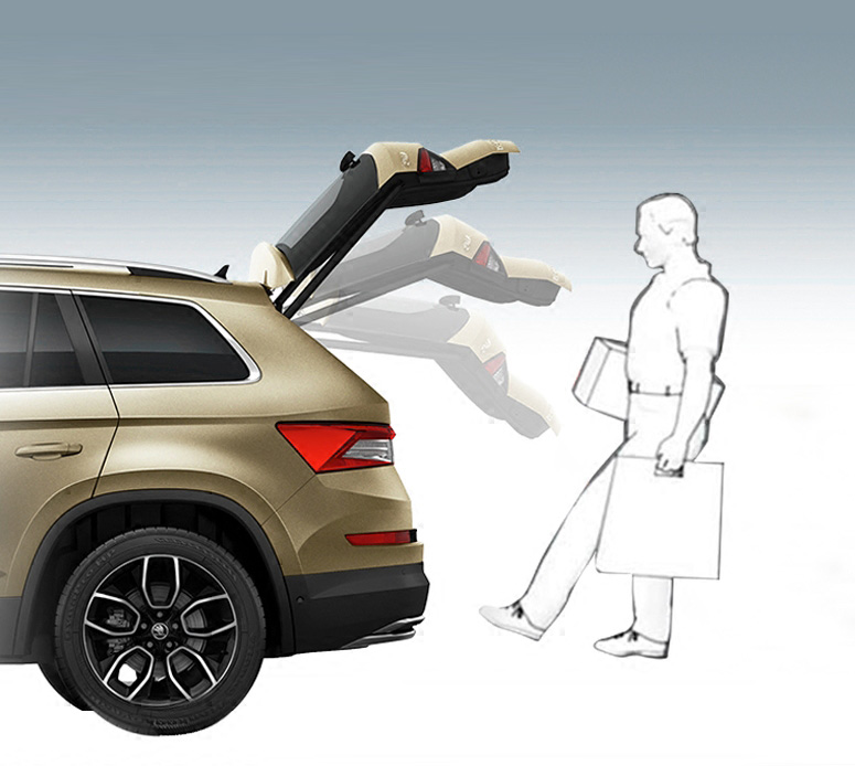 For SKODA KODIAQ (need With Electric Tail Door Function ) Rear Trunk Door Automatic Inductor Use Foot Open Electric Tail Gate