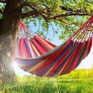 Гамак для кемпинга, парусиновая свисающая кровать для отдыха на природе, для путешествий, охоты, сна, террасы, крыльца, подвесное кресло 260*150 ...