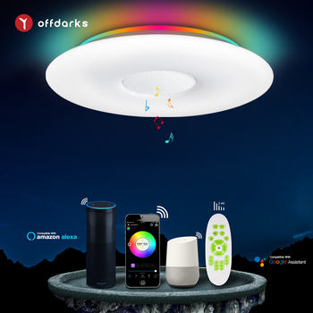 OFFDARKS Smart Ceiling Light WIFI Voice Control Bluetooth Speaker APP Remote Control  Bedroom Kitchen Music Ceiling Lamp