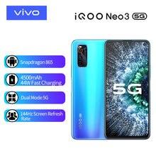IQOO-teléfono inteligente Neo 3, móvil 5G con modo Dual, 48MP Triple de cámara trasera, 6GB/8GB, 128G, UFS3.1, pantalla de carreras de 6,57 pulgadas, carga rápida de 44W