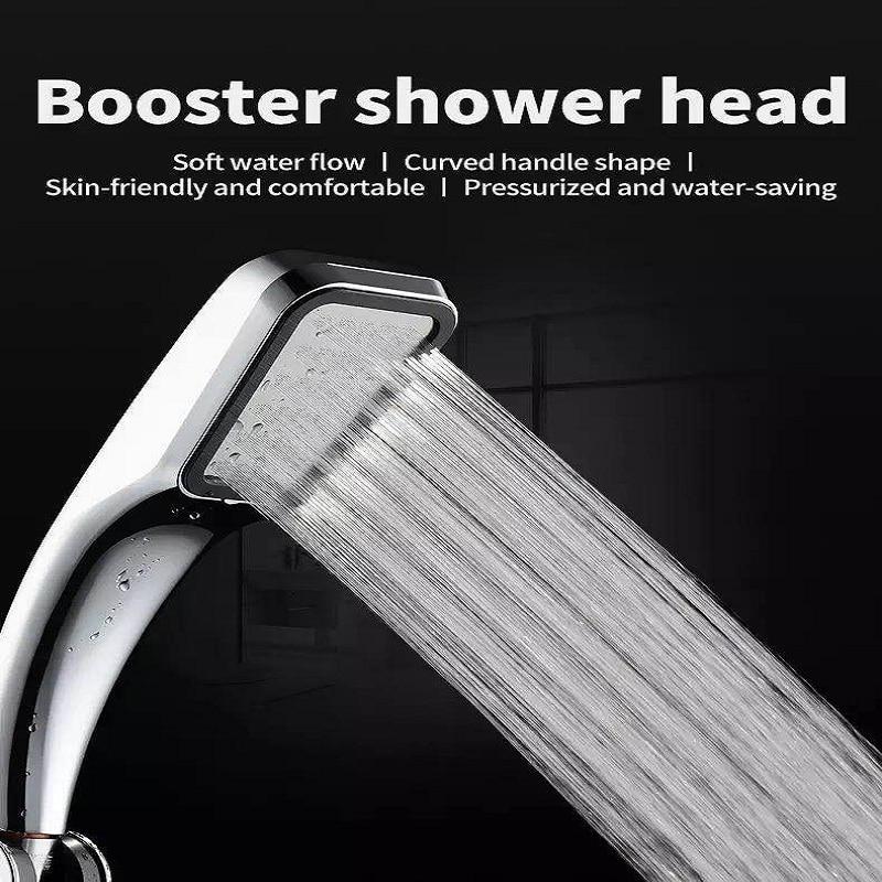 High Pressure Shower Head Bath Water Saving Rainfall Boost Stainless Steel Home