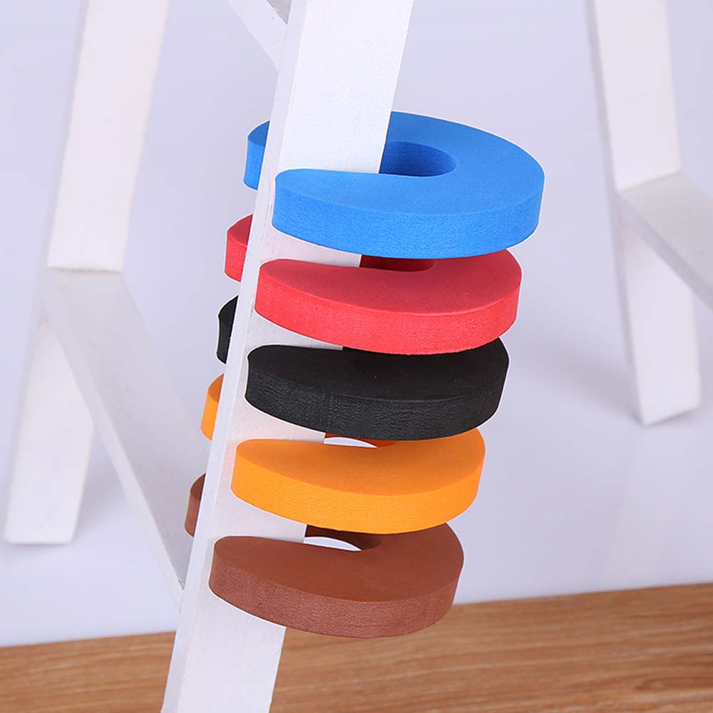 6 Colors Foam Door Stopper Children Finger Pinch Protector Durable Kids Baby Safety Finger No Pinch Guards Gate Stopper