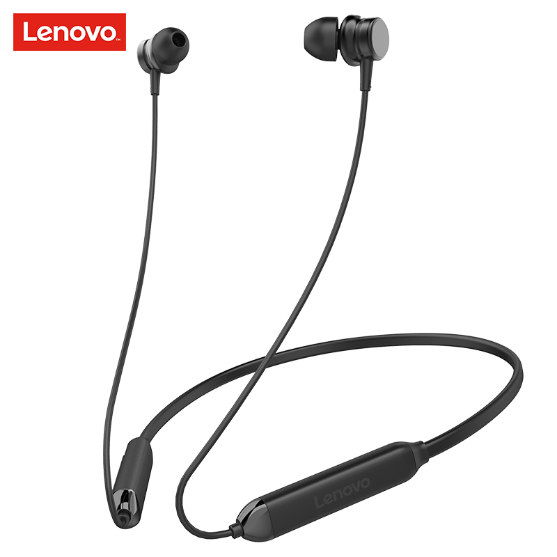 Lenovo HE15 Sports Wireless Headset Bluetooth 5.0 With Microphone Deep Bass Earphone Active Noise Cancelling Magnetic Earbuds