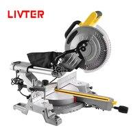 LIVTER professional industrial sliding mitre saw wood aluminum cutting power tools miter saw machine