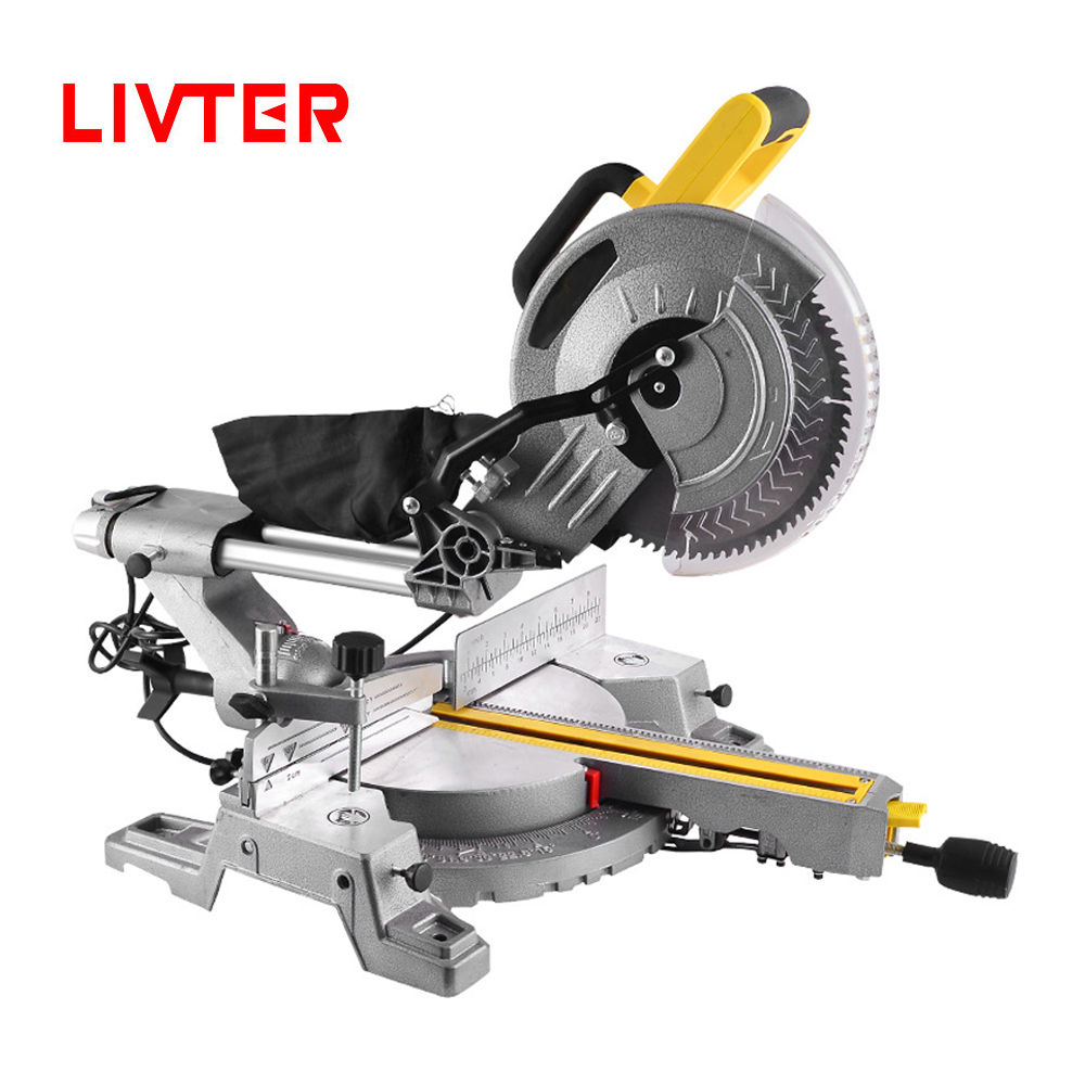 LIVTER Professional Industrial Sliding Mitre Saw Wood Aluminum Cutting Power Tools Miter Saw Machine