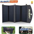 Suaoki 25 Вт Складная солнечная панель Зарядное устройство Порт возможность зарядки телефона двойной USB порт 5 В/4A выход солнечная панель для те...