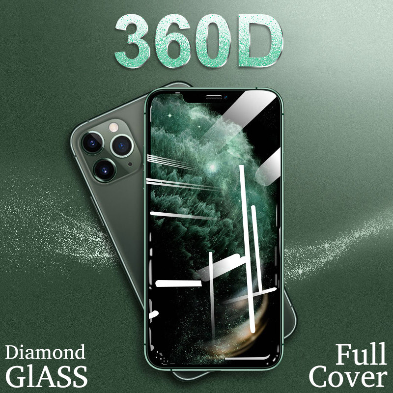360D Protective Glass On For IPhone 11 Pro Max X XR XS Max Screen Protector IPhone 6 7 8 Plus Tempered Glass On IPhone 11 Glass