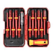 Screwdrivers-Set Electrician 1000V Repair-Tools-Kit Magnetic-Slotted Torx-Bits Pozidriv