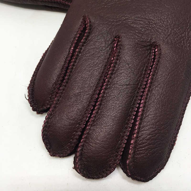 2018 新ファッション女性の冬の手袋女性ミトン手袋シープスキン毛皮暖かい冬女性手袋ハートと素敵な手袋