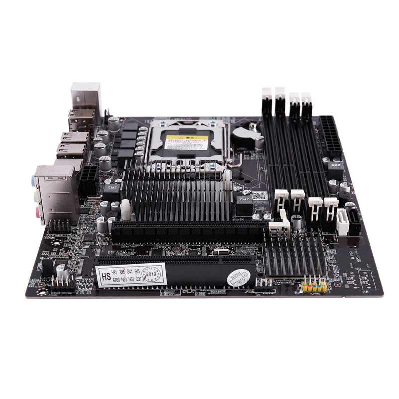 X58F LGA1366 Desktop Computer Mainboard With SATA 3.0/2.0 USB 2.0 DDR3 1600 64G 2 Channel Motherboard For Intel