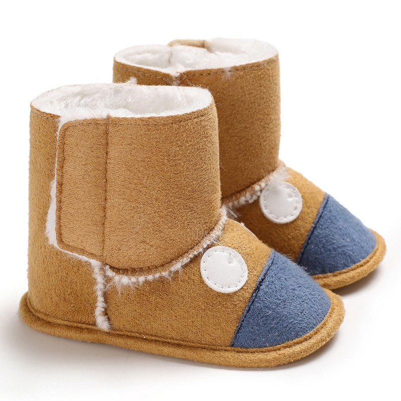 Newborn Baby Boys Shoes Winter Warm Baby Boots Soft Sole Slip-On Toddler Infant First Walker Prewalkers Booties Booty 0-18M