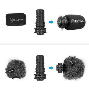 Image 4 - BOYA BY DM200 דיגיטלי סטריאו Cardioid הקבל מיקרופון מעולה קול עבור עבור iPhone iPad iPod Touch התקני הקלטה
