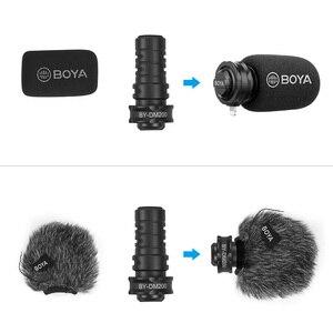 Image 4 - BOYA BY DM200 цифровой стерео кардиоидный конденсаторный микрофон, превосходный звук для iPhone, iPad, iPod, записи сенсорных устройств