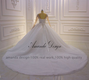 Image 4 - Amanda Design hochzeit Crystal Bling Bling Sparkle Wedding Dress with Sleeves