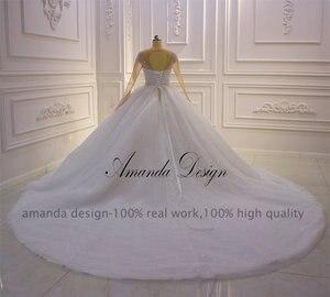 Image 4 - アマンダデザイン hochzeit クリスタルケバケバスパークルのウェディングドレス