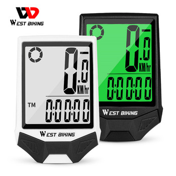 WEST BIKING Waterproof Bicycle Computer Wireless MTB Road Bike Cycling Odometer Speedometer With Backlight Bike Stopwatch bike computer g wireless gps speedometer waterproof road bike mtb bicycle bluetooth ant with cadence cycling computers
