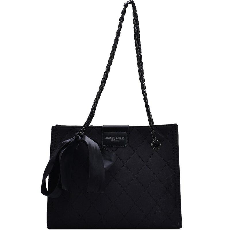 Качественная женская дизайнерская сумка Оксфорд на цепочке через