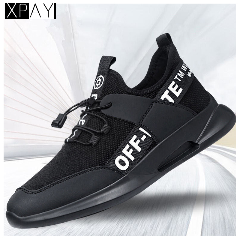 2020 New Style Mesh Breathable Sports MEN'S SHOES Running Shoes MEN'S Casual Shoes  Off White Black Shoes  Men Sneakers