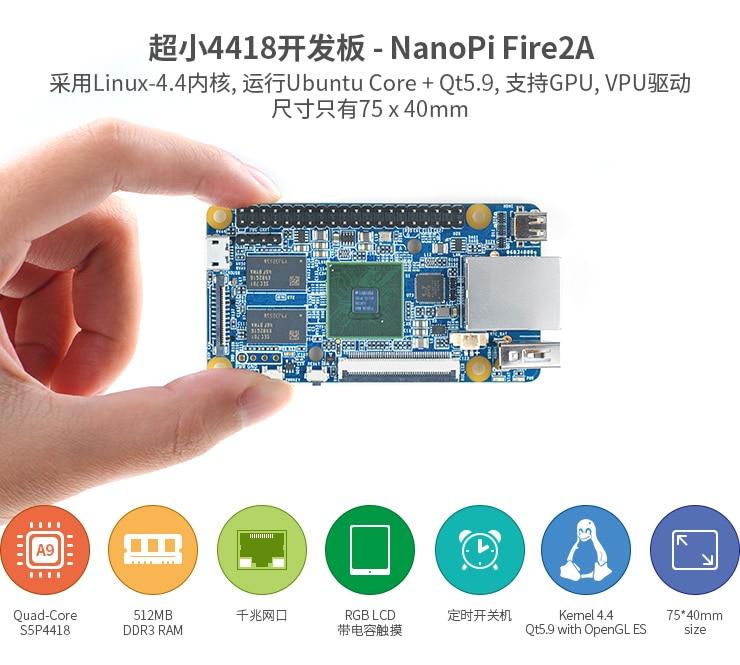 S5p4418 placa de desenvolvimento pi2 iniciante starter
