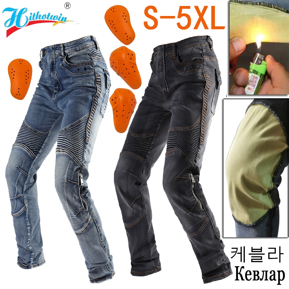 2021 summer Men Motorcycle Pants Aramid Moto Jeans Protective Gear Riding Touring Black Motorbike Trousers Blue Motocross Jeans 1