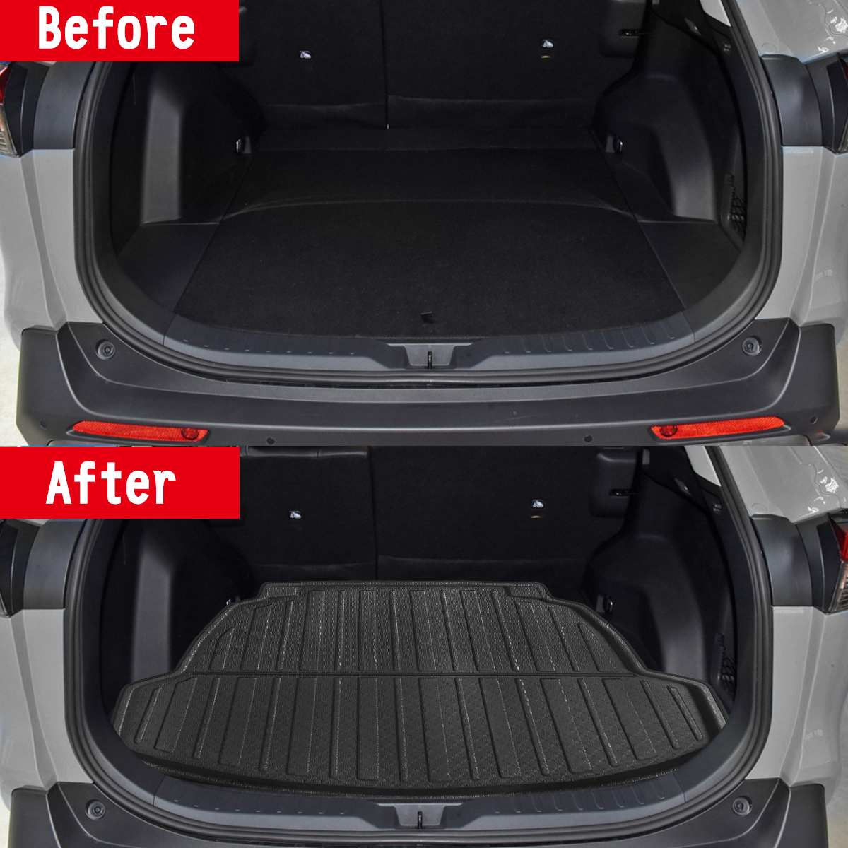 Car Cargo Liner Boot Tray Rear Trunk Cover Matt Mat Floor Carpet Kick Pad For Toyota For Carola Corolla Sedan models 2019