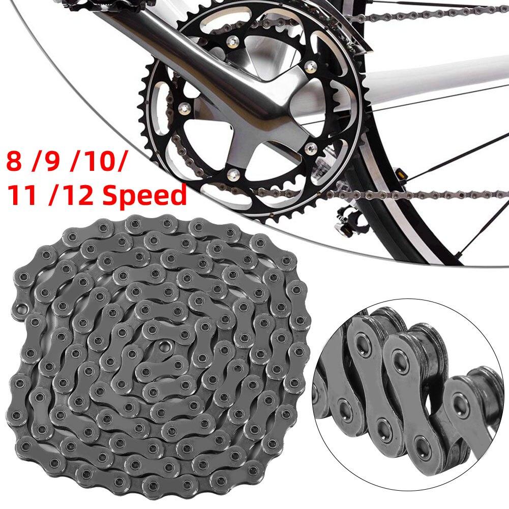 Велосипед Скорость цепочка, 8, 9, 10, 11, 12, цепь для скоростного велосипеда Сталь MTB Горный Дорожный велосипед соединительные цепи 116/126 ссылки