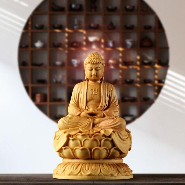 statue-bouddha-position-de-lotus-décoration-intérieure