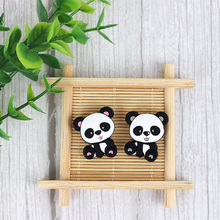 TYRY.HU Cute Panda  Baby Cartoon Silicone Beads Food Grade Teether DIY Chewable Teething Gift