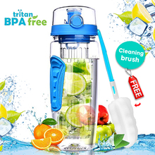 32OZ Water Bottle Fruit Infuser Sport bottles gym drinking B