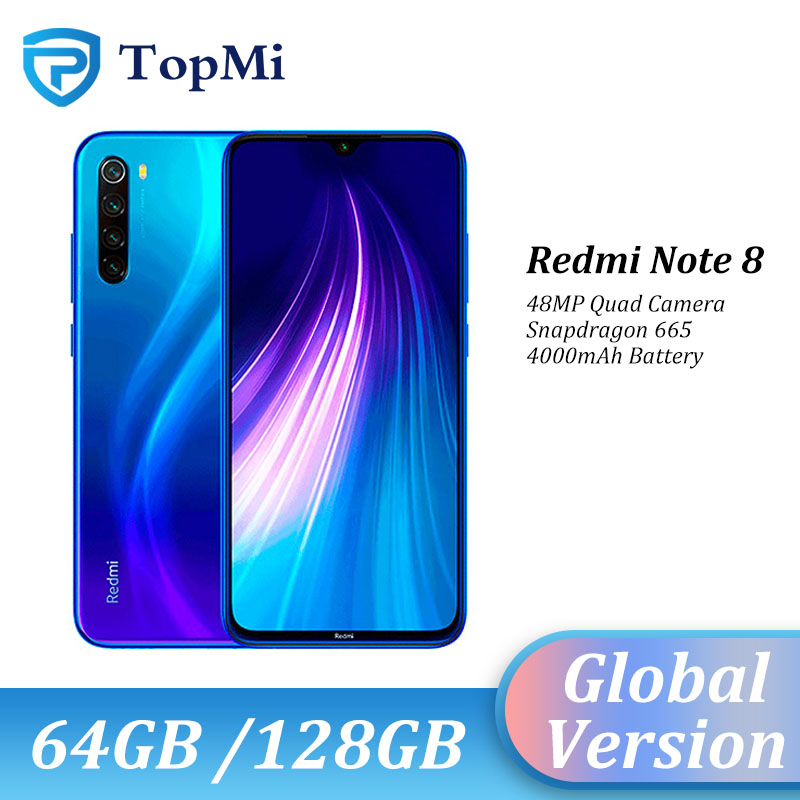 Глобальная версия Xiaomi Redmi Note 8 4GB 128GB ROM / 64 ГБ ROM, смартфон с 48MP Quad Camera Snapdragon 665 6,3