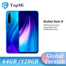 Versão global xiaomi redmi nota 8 4gb 128gb rom/64gb rom smartphone 48mp quad camera snapdragon 665 6.3