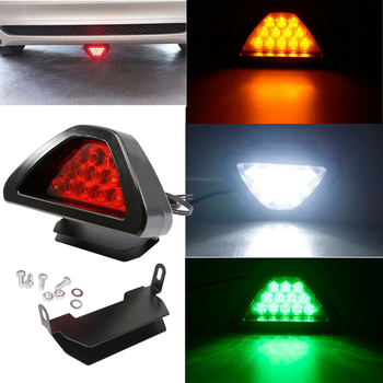 цена на Car Universal LED Light 12V F1 Style Fog Brake Lamp Light Red Rear Stop Safety Tail Light Car Motorcycle Styling Warning Lights