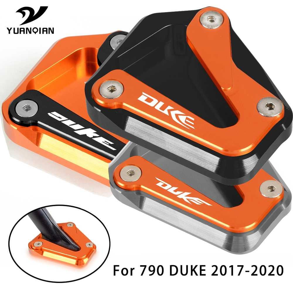 Color : Orange Black Typ Kickstand Side Shoe Foot Rests Stand Extension Enlarger Aluminum for KTM Duke 790 2018 2019 2020