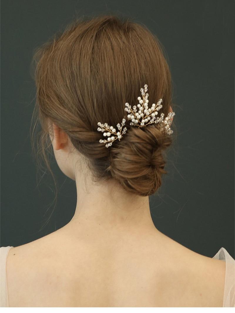 Bridal Hair Stick Wedding Headwear For Bride Handmade Floral Hairpin Wedding Jewelry Bridal Hair Accessories Crowns for Bride