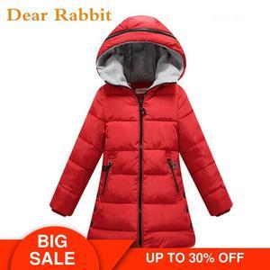 Image 1 - Весна Зима 2020, куртка для девочек, одежда детское пальто с хлопковой подкладкой и капюшоном детская одежда парки для девочек enfant, куртки и пальто