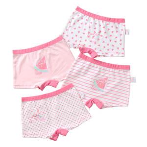 Cotton Underwear Panty Boxer Girls Baby Kids Children Cute Lovely 4pcs/Lot Yrs 3-12