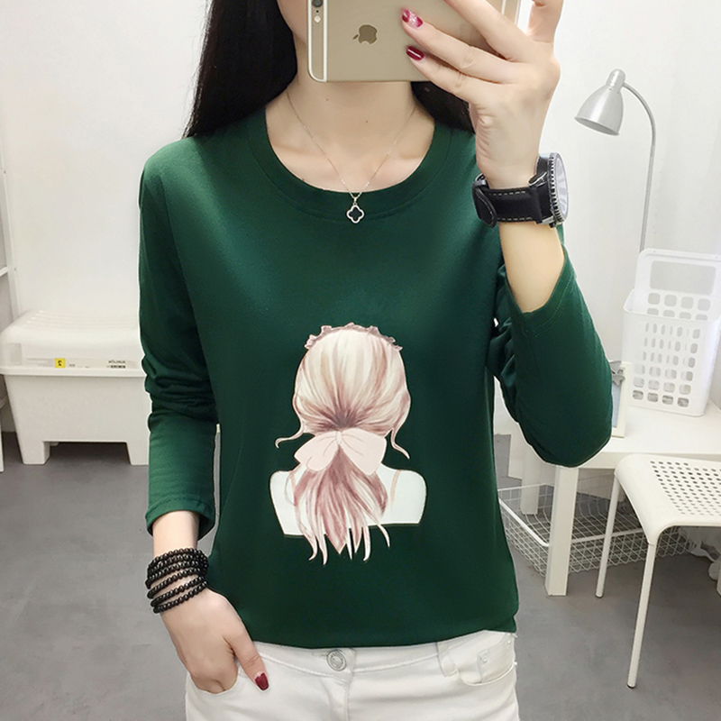 AOSSVIAO Plus Size Women T-Shirt Autumn Winter Long Sleeve Tops Tee Print T-Shirt 2019 Femme Harajuku Loose T Shirt Ladies Tops