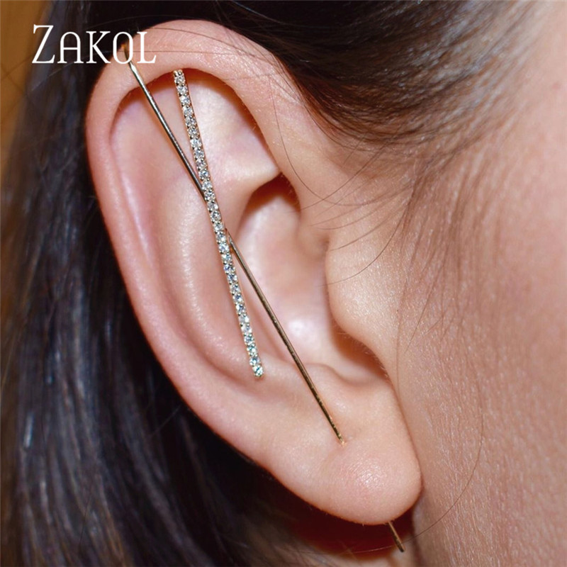 ZAKOL New Hot Cubic Zirconia Crystal Stud Earrings Accessories for Women Girl Wedding Party Dinner Dress Jewelry FSEP3047(China)
