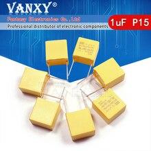 10 Stuks 1Uf Condensator X2 Condensator 275VAC Pitch 15Mm X2 Polypropyleen Film Condensator 1Uf