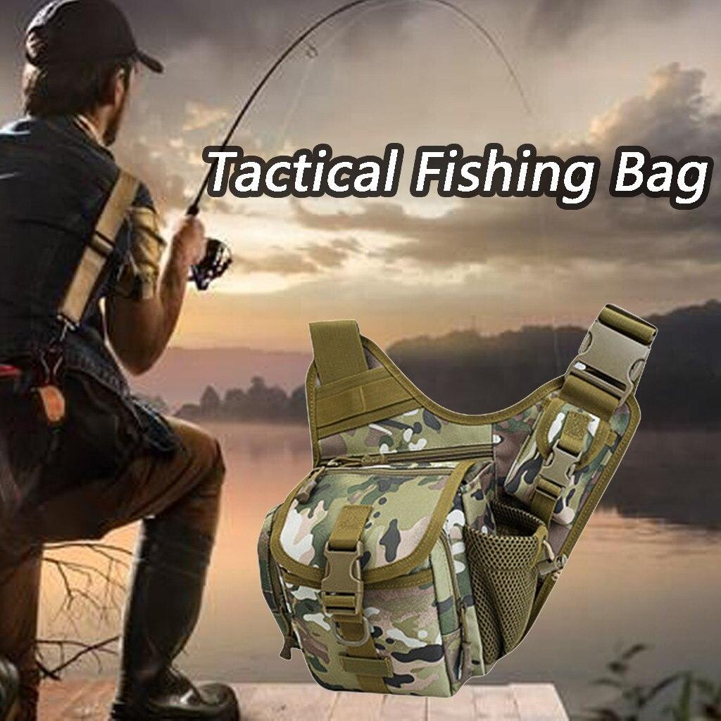 Haute qualité sac de pêche en plein air sac tactique pêche taille poches militaires passionnés équipement sacs de sport