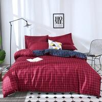 Lanke Luxury bedding set kids,Plaid pattern bed bedding,Home Textile King Queen Size Bed Set