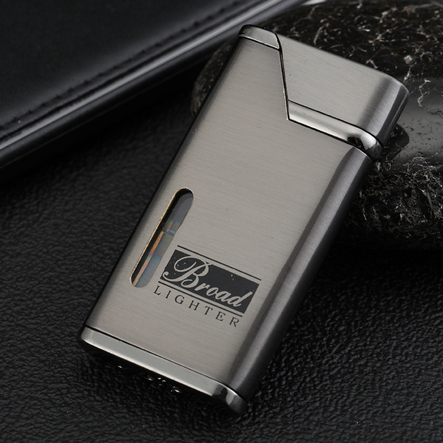 Visible Gas Lighter Metal Turbo Lighters Smoking Accessories Butane Torch Lighter Cigar Cigarettes Lighter Gadgets For Men 1