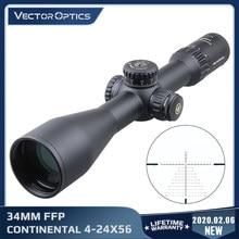 Vector Optics Continental 4-24x56 HD 34 мм FFP охотничий оптический прицел 1/10MIL нулевой стоп 90% оптические прицелы для винтовки. 338 большой диапазон
