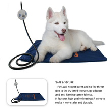 Waterproof Pet Heating Pad Electric Warmer Thermal Heated Mat for Dogs Cats Chew Resistant Cord